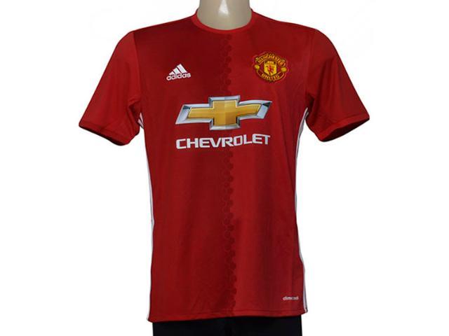Camisa Masculina Adidas Ai6720 Man United i Vermelho