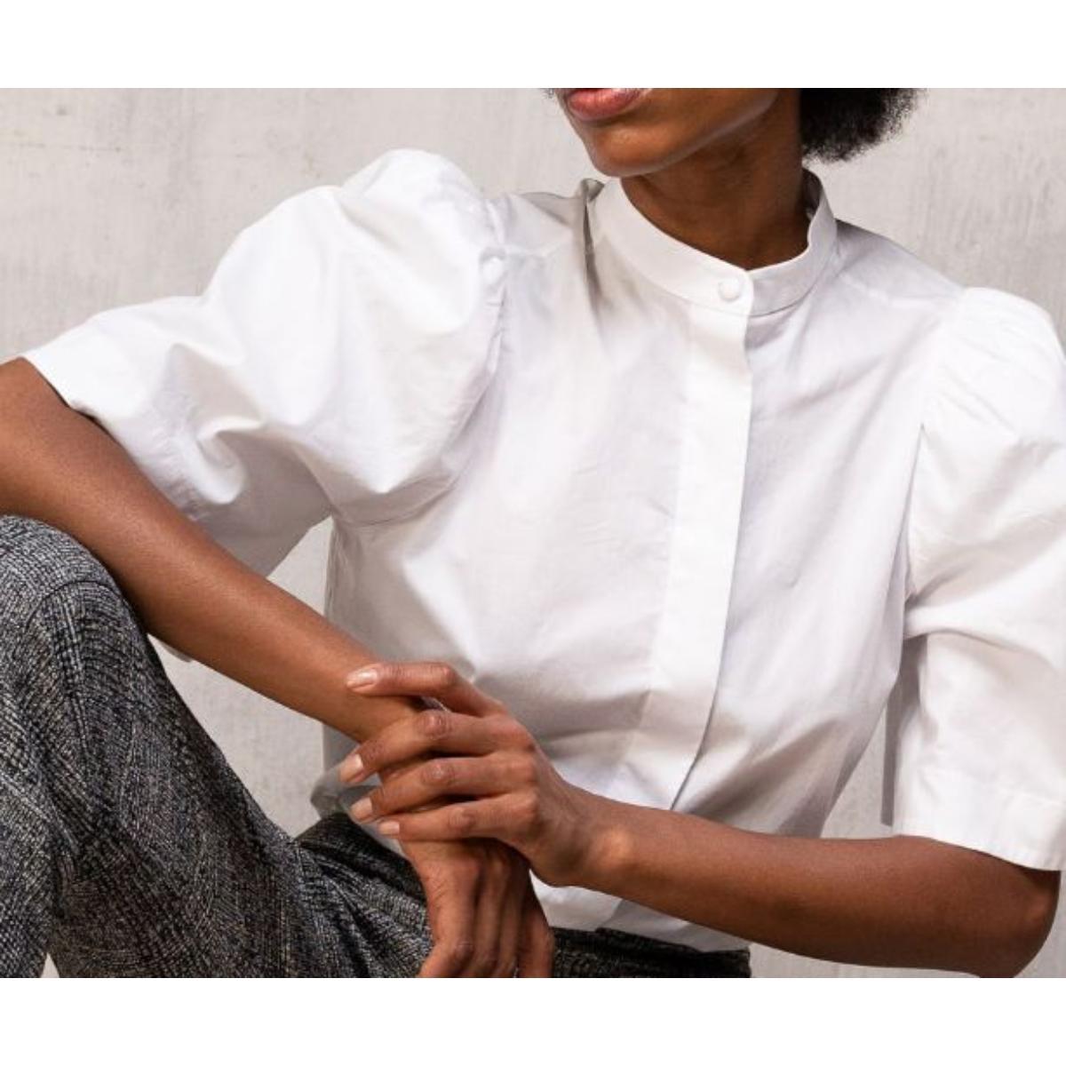 Camisa Feminina Borda Barroca 10011205 Branco