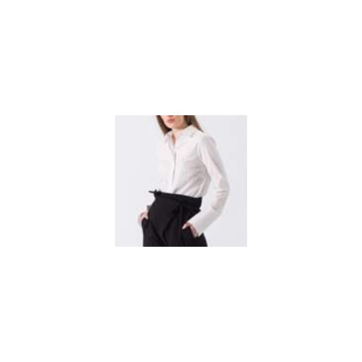 Camisa Feminina Borda Barroca 10011213 Branco