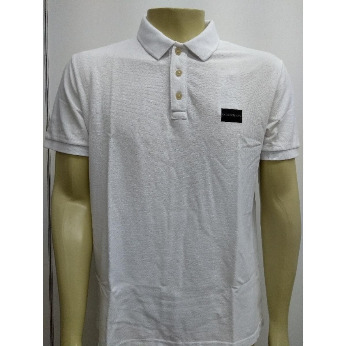 Camisa Masculina Calvin Klein Cm0oc02pc470 Branco