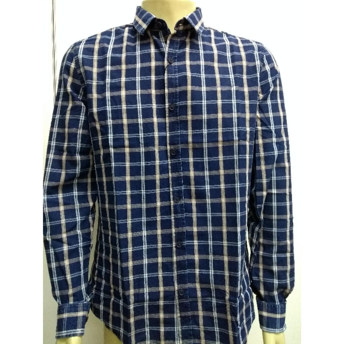Camisa Masculina Calvin Klein Cm0oc03cl779 Marinho