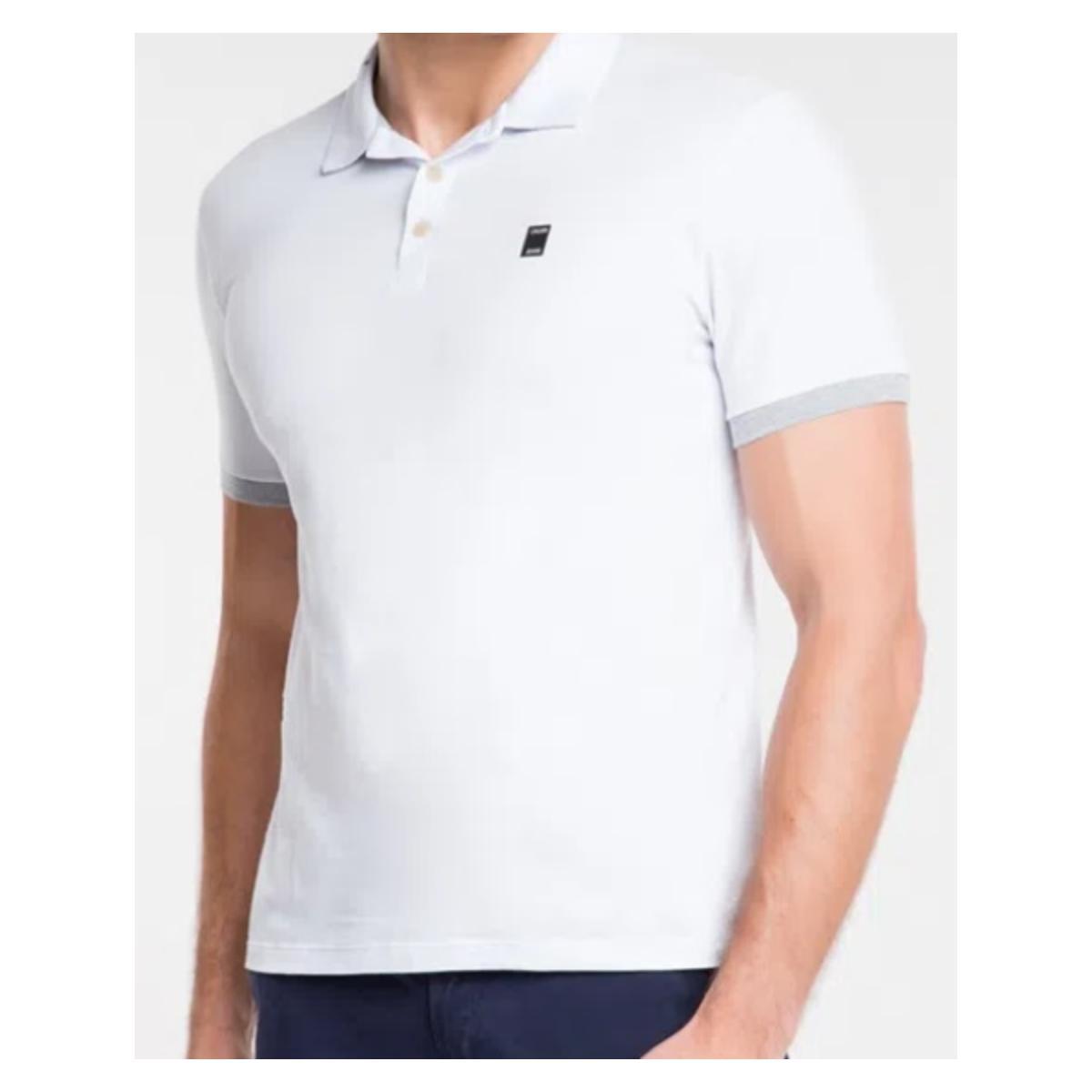 Camisa Masculina Calvin Klein Cm0oc02pc437 Branco