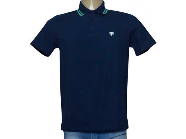 Camisa Masculina Cavalera Clothing 03.01.0642 Azul Aço/verde