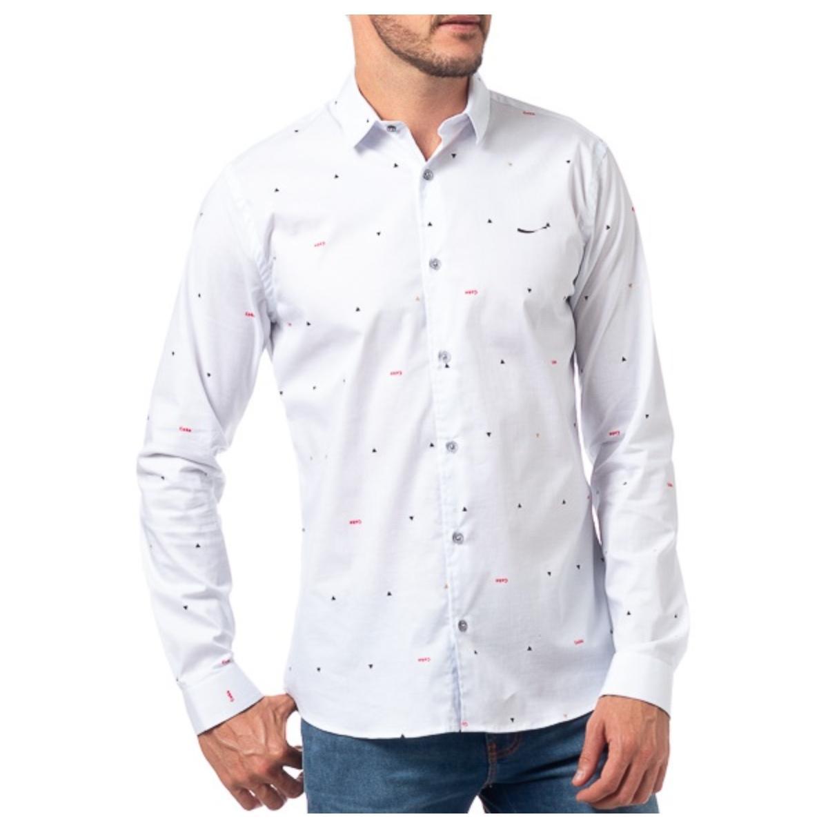 Camisa Masculina Coca-cola Clothing 313201038 Vc259 Off White Estampado