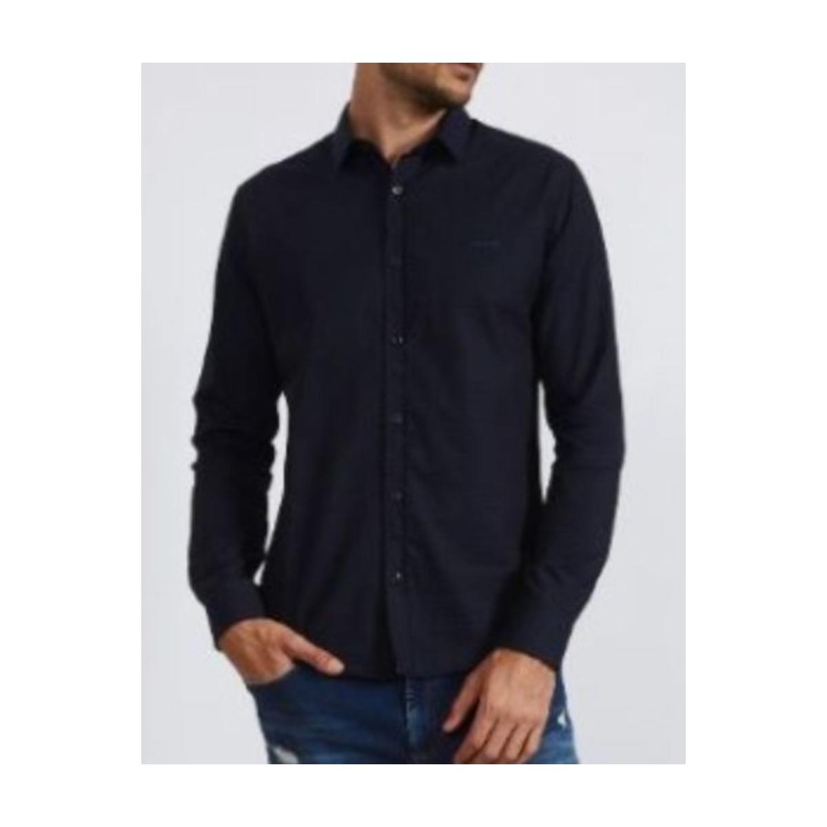 Camisa Masculina Colcci 310103798 Vc70 Marinho Estampado