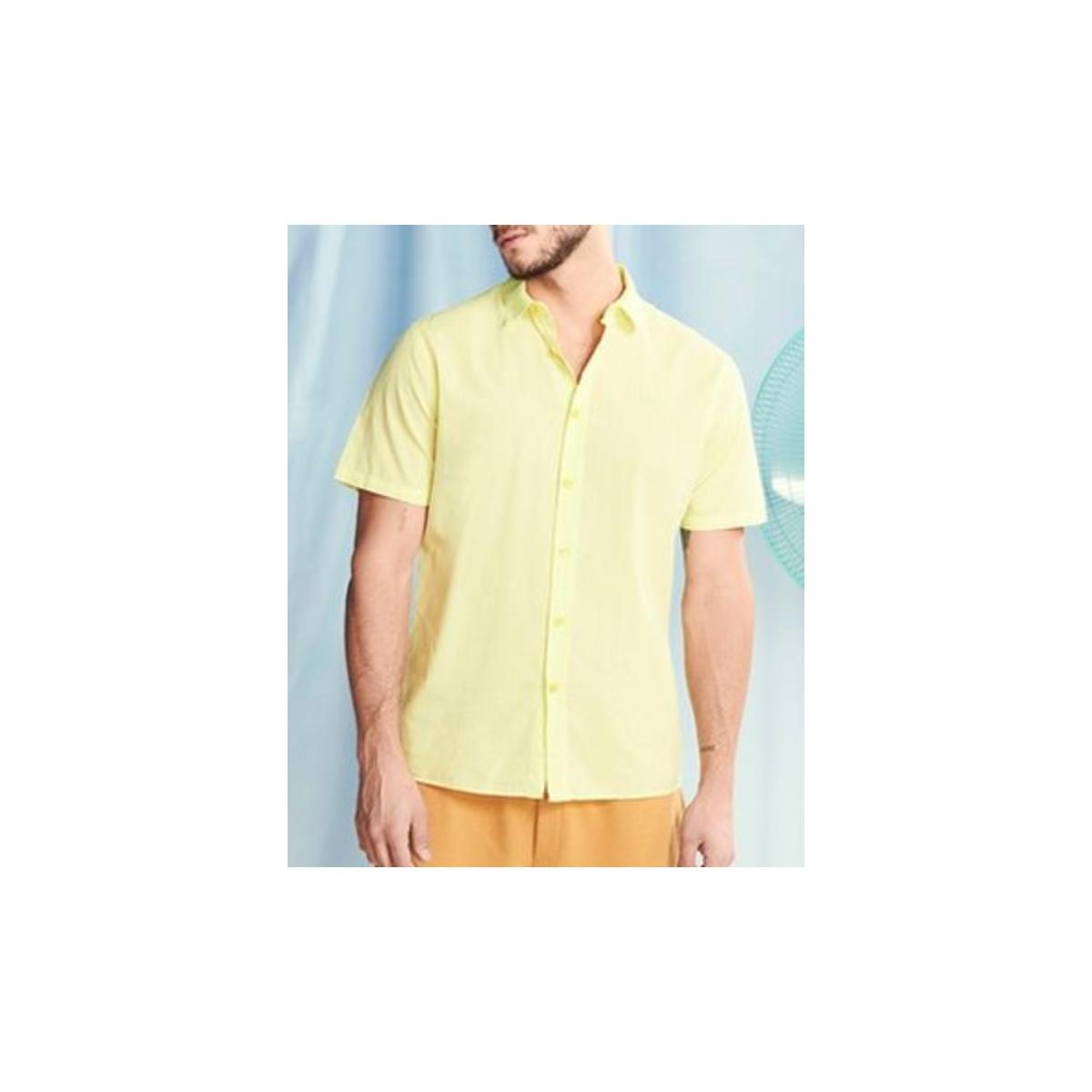 Camisa Masculina Colcci 310103670 53692 Amarelo