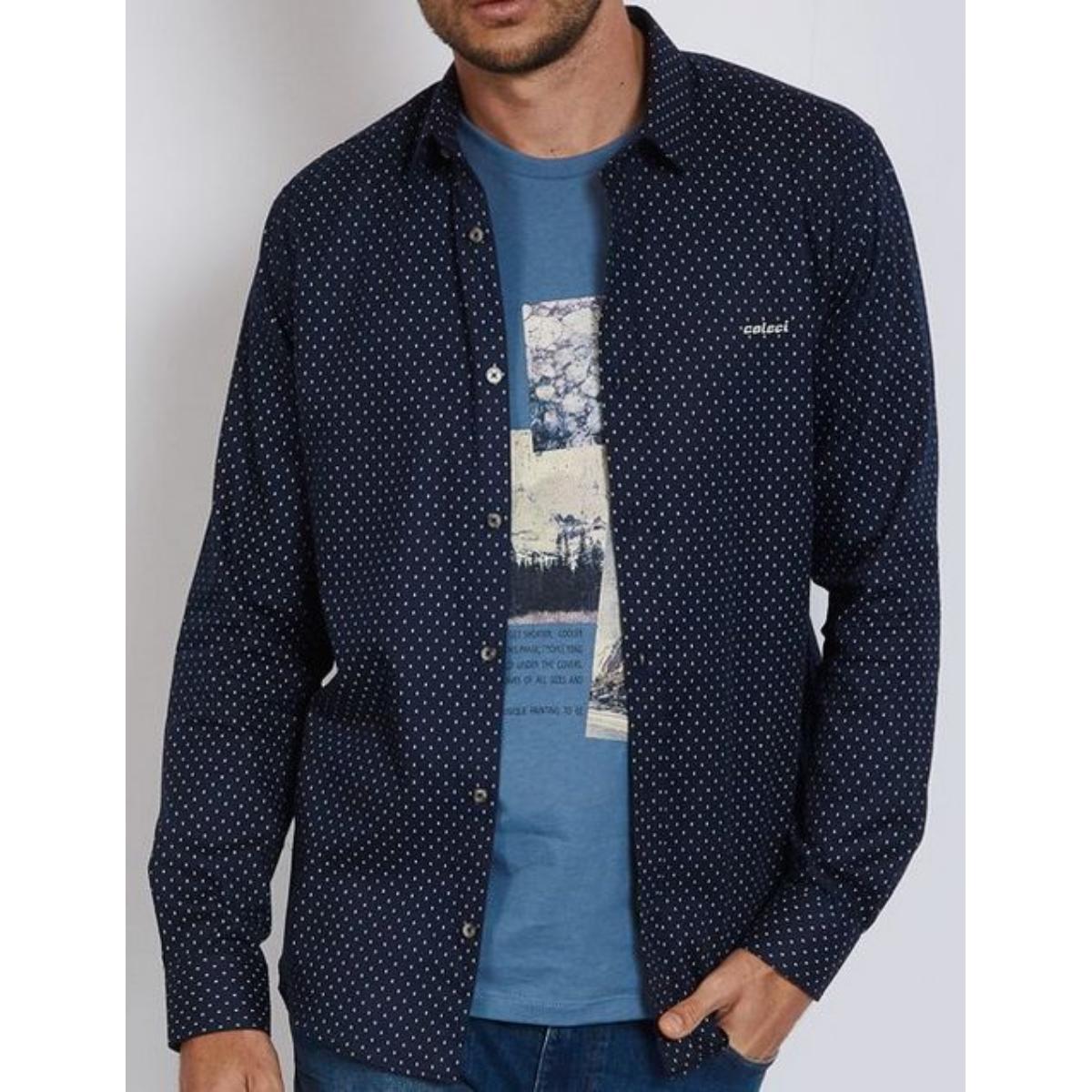 Camisa Masculina Colcci 310103799 Vc81 Azul/branco