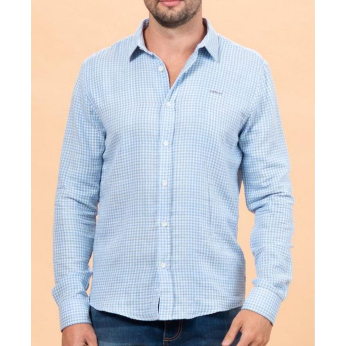 Camisa Masculina Colcci 310103640 Vc118 Branco Xadrez