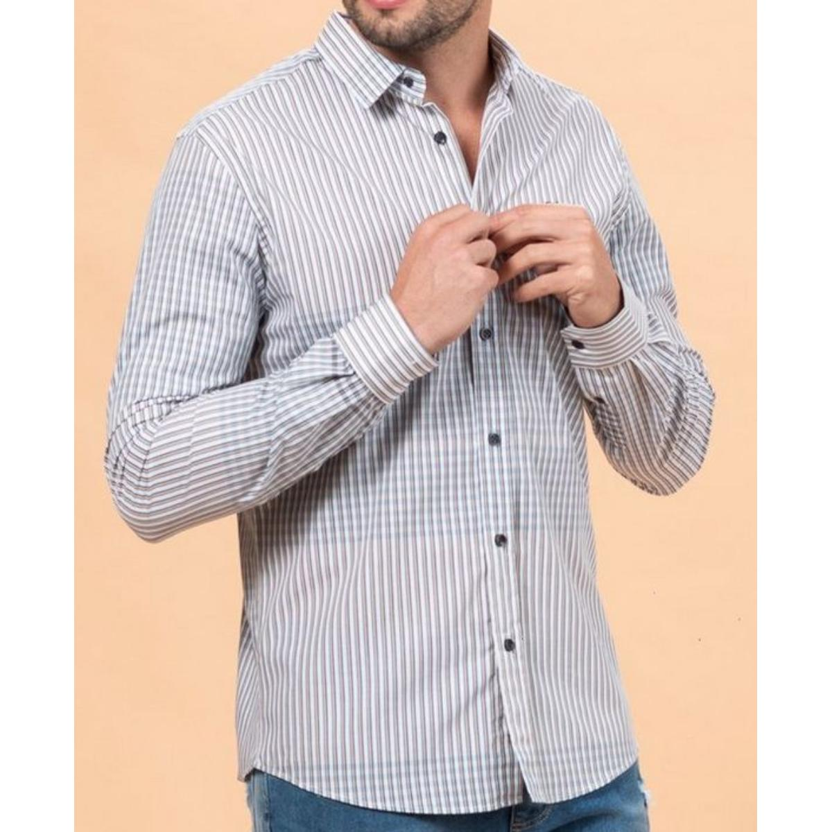 Camisa Masculina Colcci 310103706 Vc127 Estampada