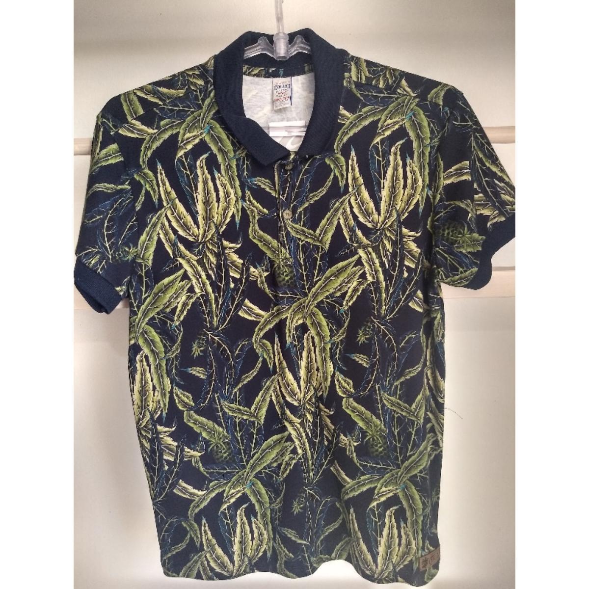Camisa Masculina Colcci 250102219 Vc62 Marinho/verde