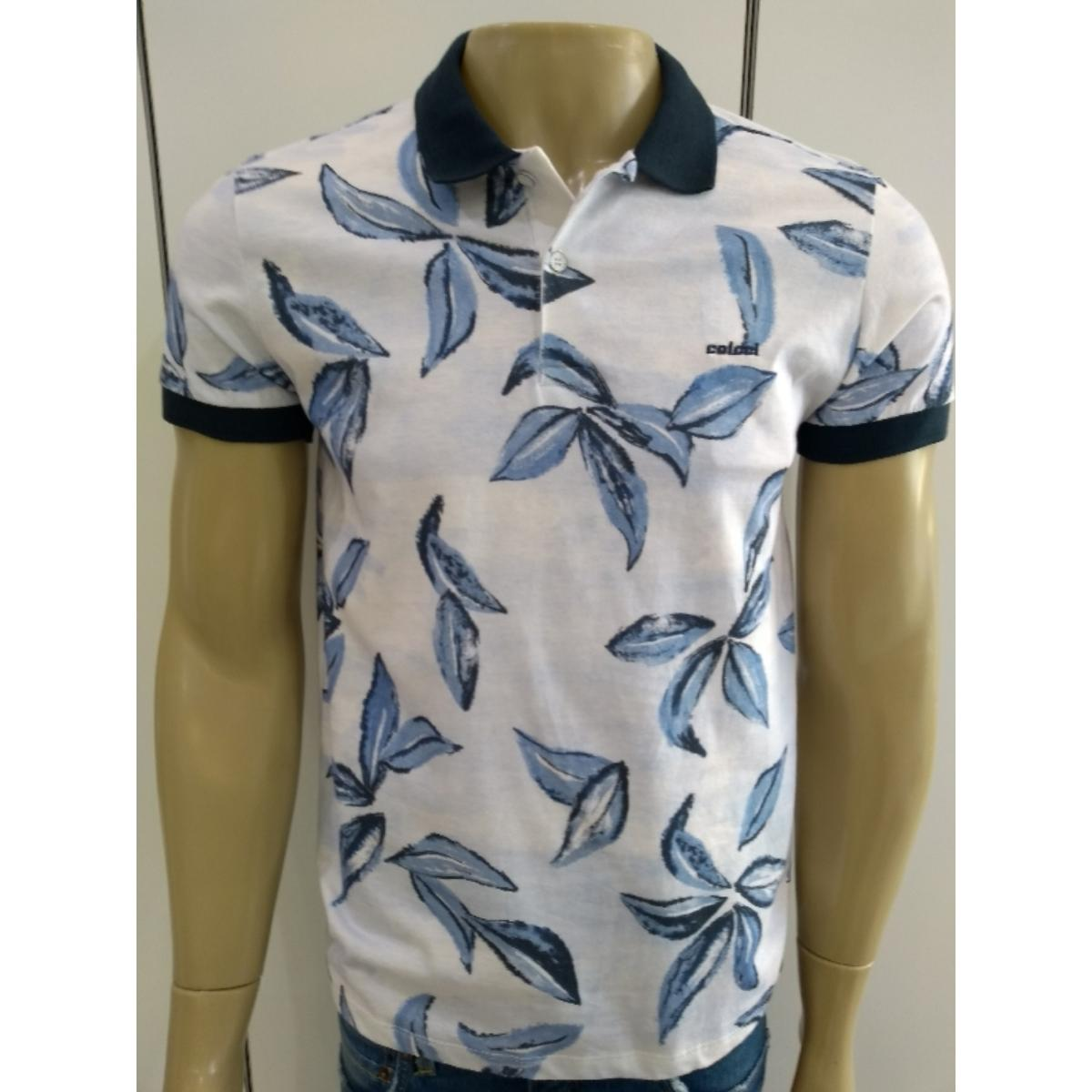Camisa Masculina Colcci 250102216 Vc76 Off White/azul