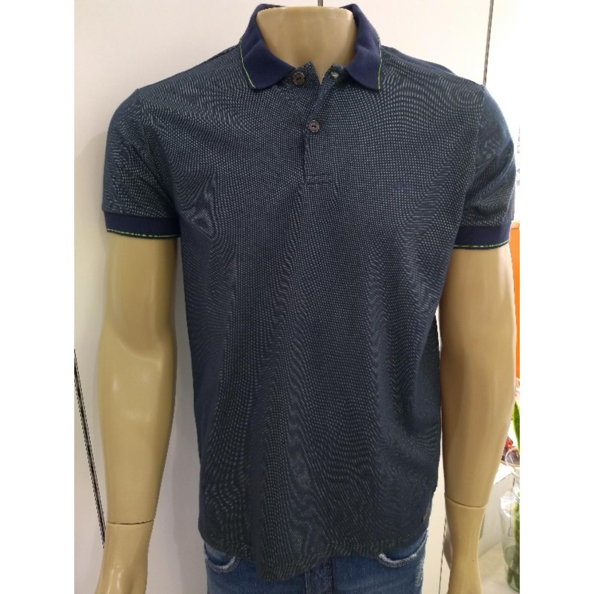 Camisa Masculina Colcci 250102098 Vc105 Verde/marinho