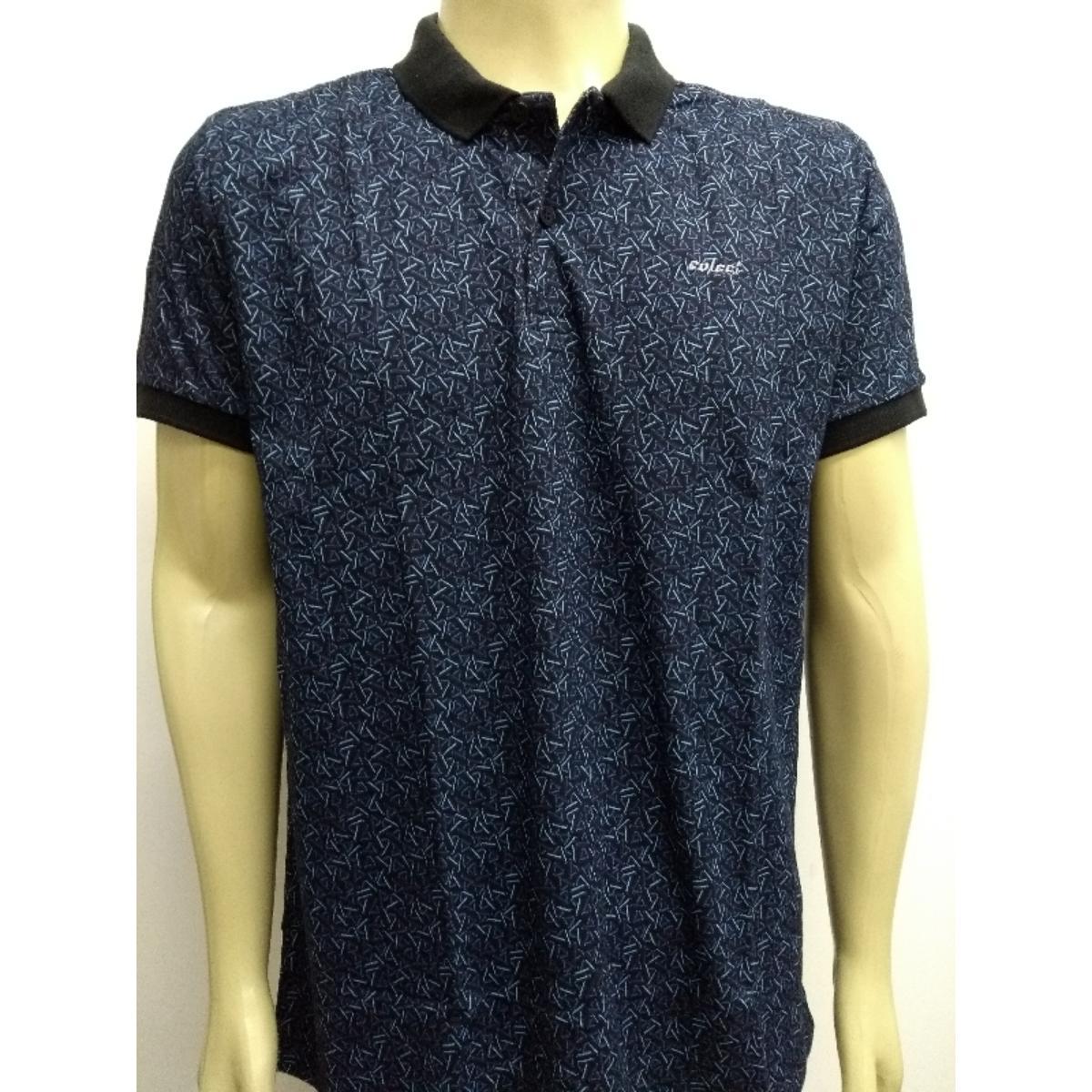 Camisa Masculina Colcci 250102340 Vc38 Preto/azul