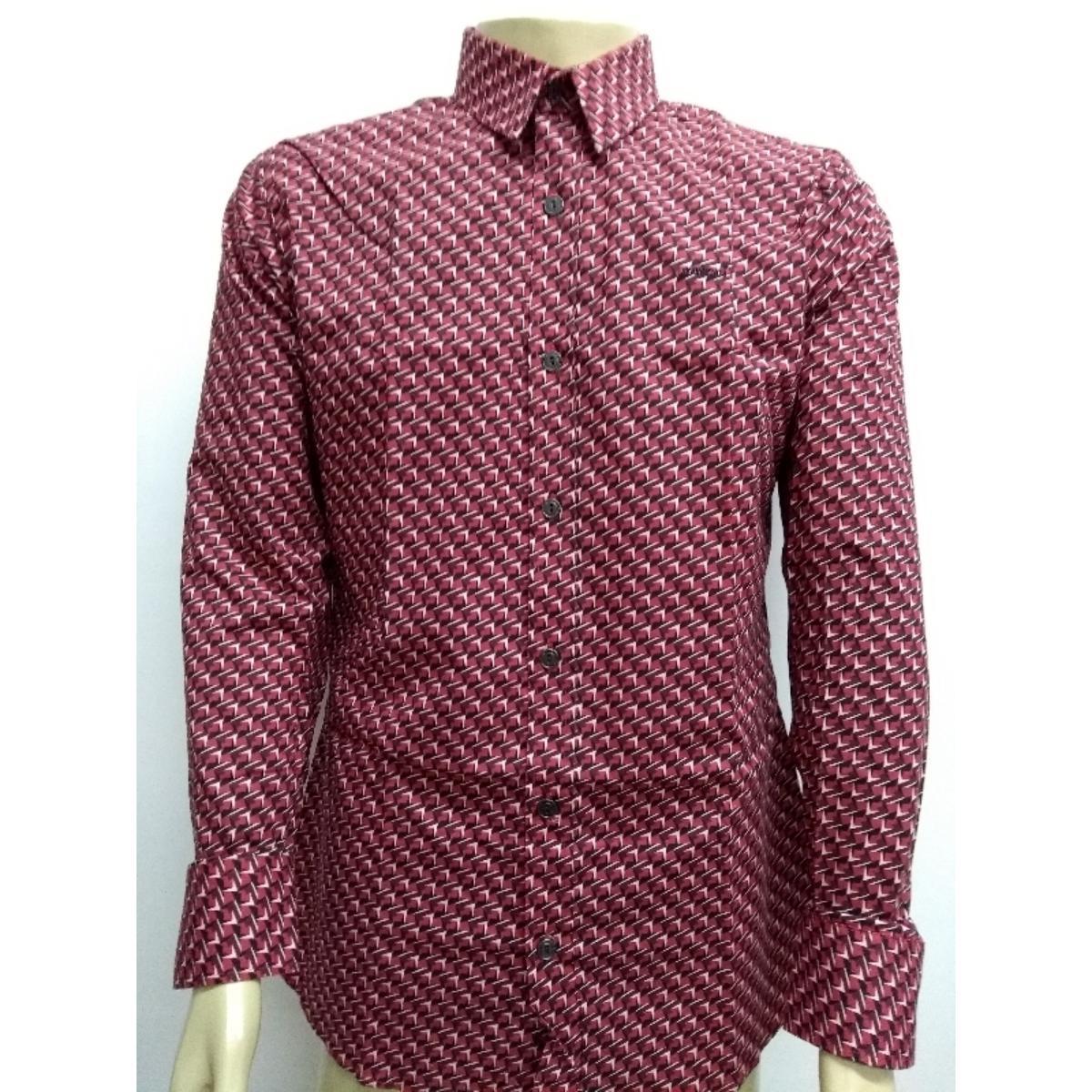Camisa Masculina Colcci 310103497 Vc59 Vermelho Estampado