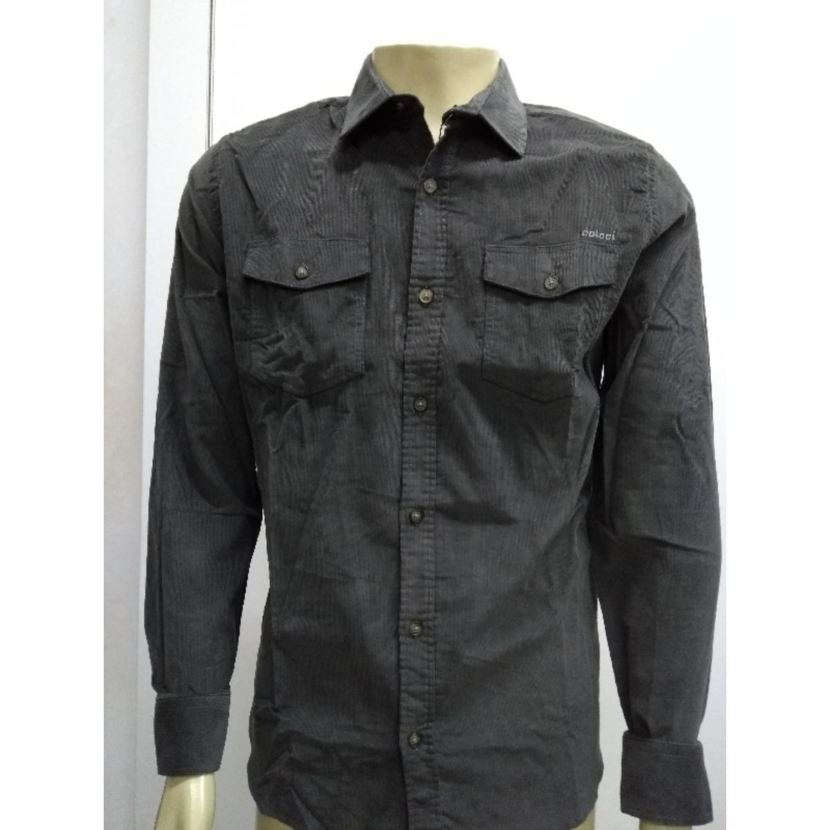 Camisa Masculina Colcci 310103481 63427 Grafite