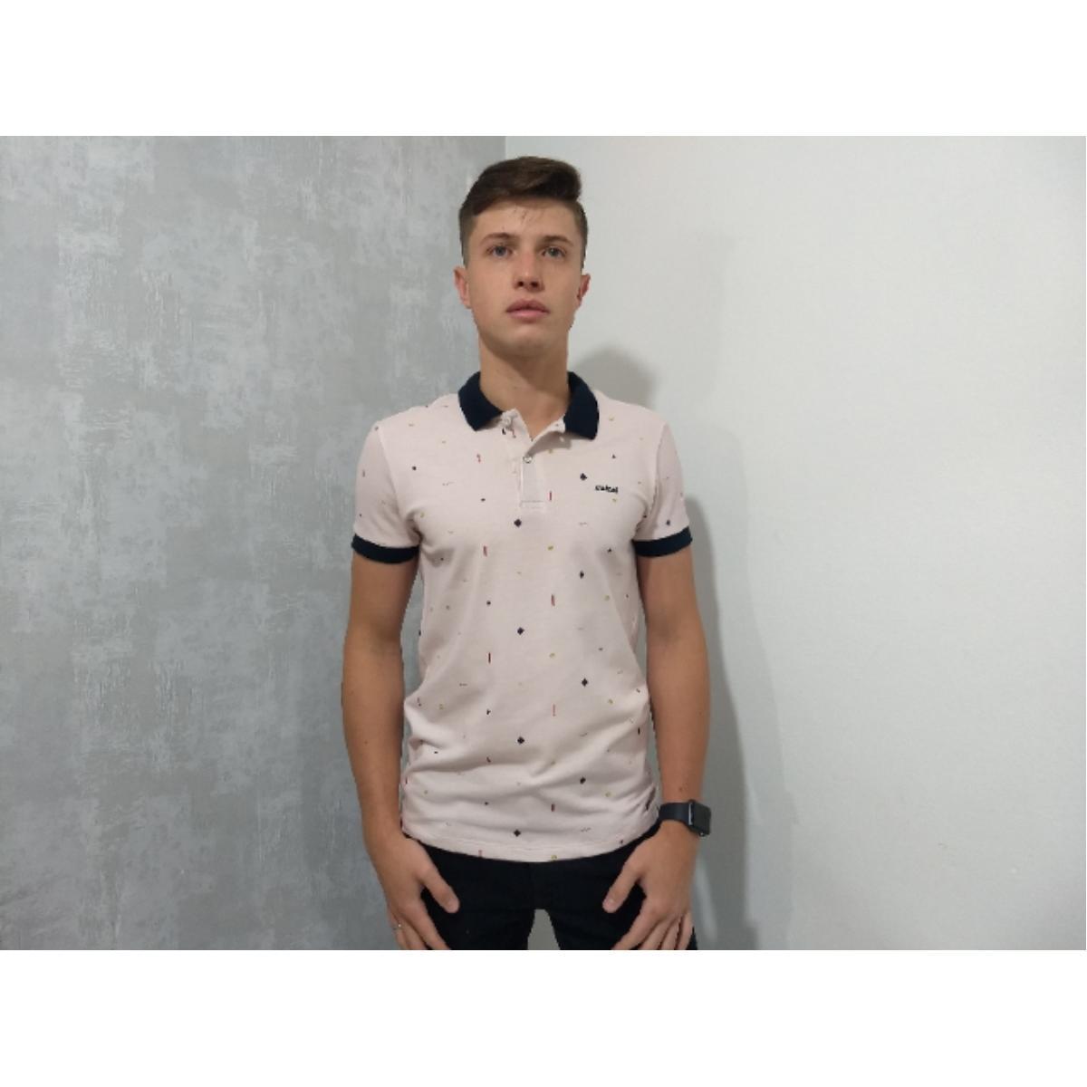 Camisa Masculina Colcci 250102222 Vc70 Rosa