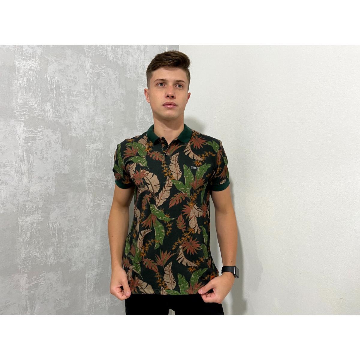 Camisa Masculina Colcci 250102097 Vc55 Preto Floral