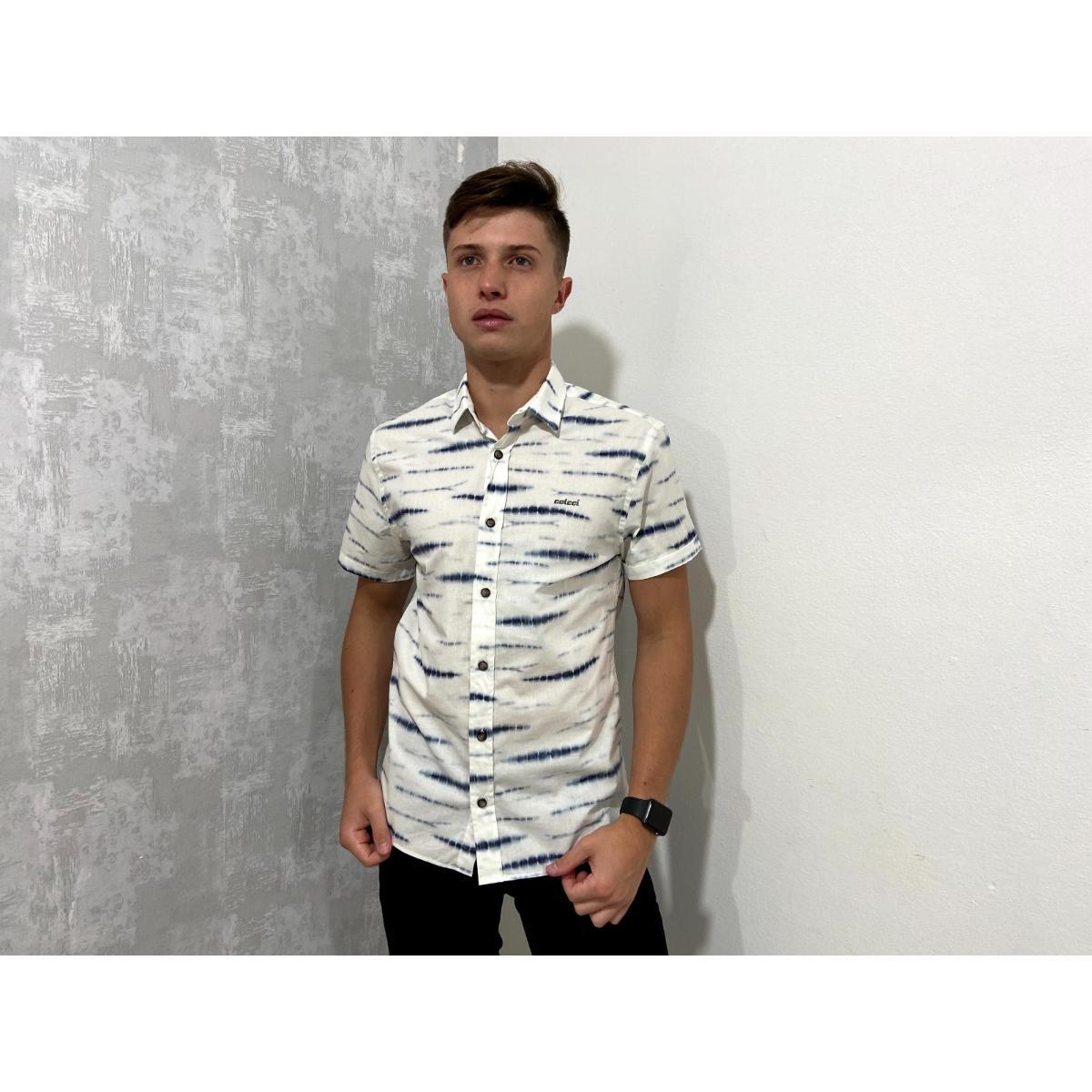 Camisa Masculina Colcci 310103630 Vc6 Estampada