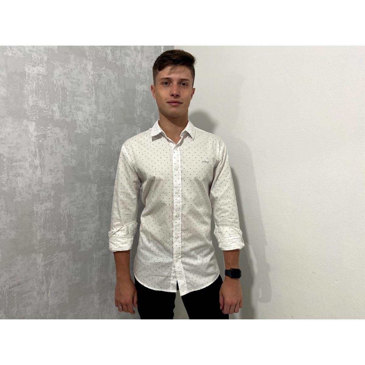 Camisa Masculina Colcci 310103210 Branco/color