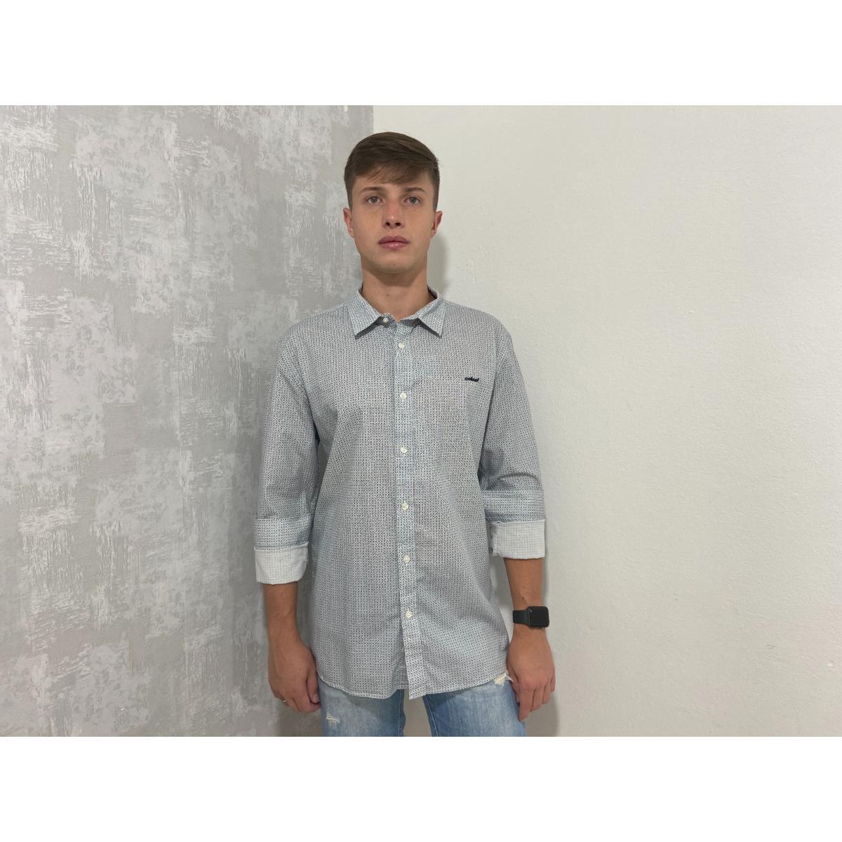 Camisa Masculina Colcci 310103450 Vc107 Off White/marinho