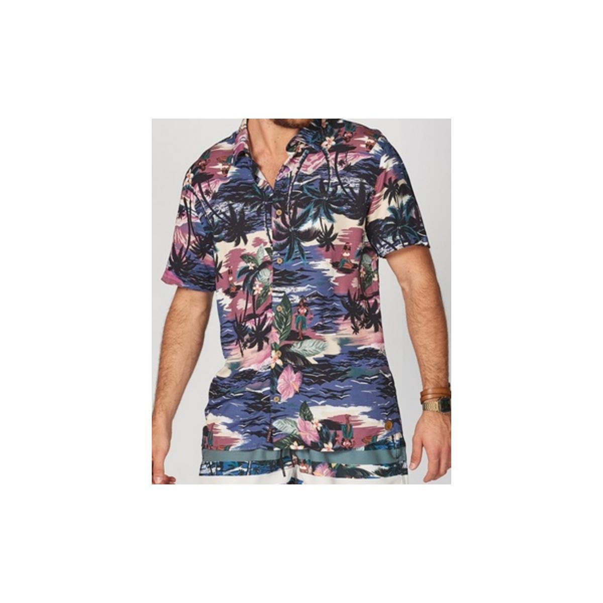 Camisa Masculina Colcci 310103240 Vc61 Estampado