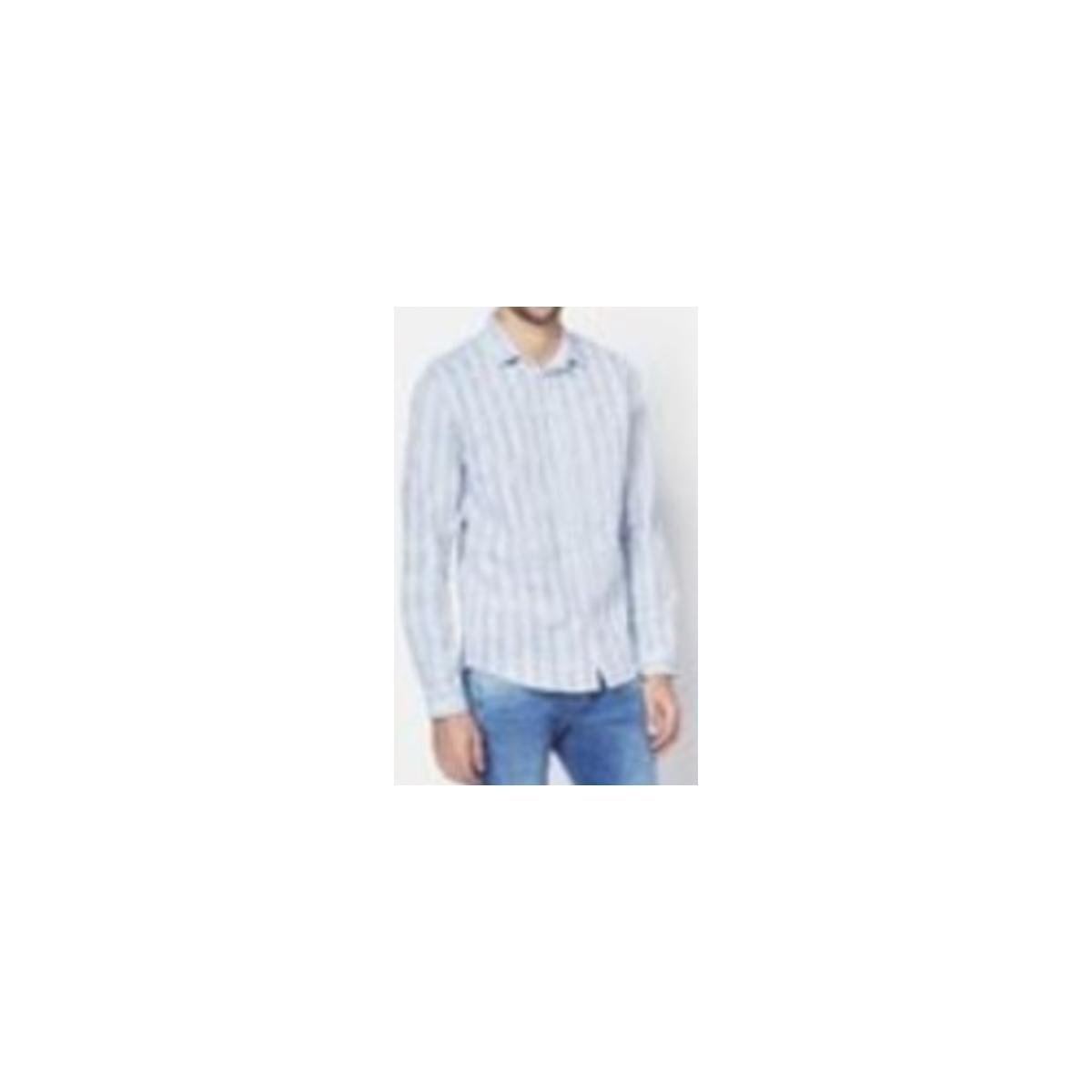 Camisa Masculina Colcci 310102965 Vc67 Azul/branco