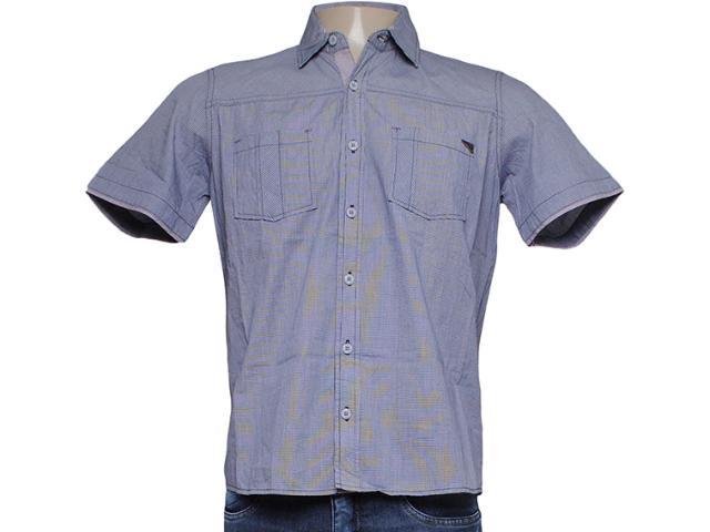 Camisa Masculina dj 01021721 Xadrez Preto