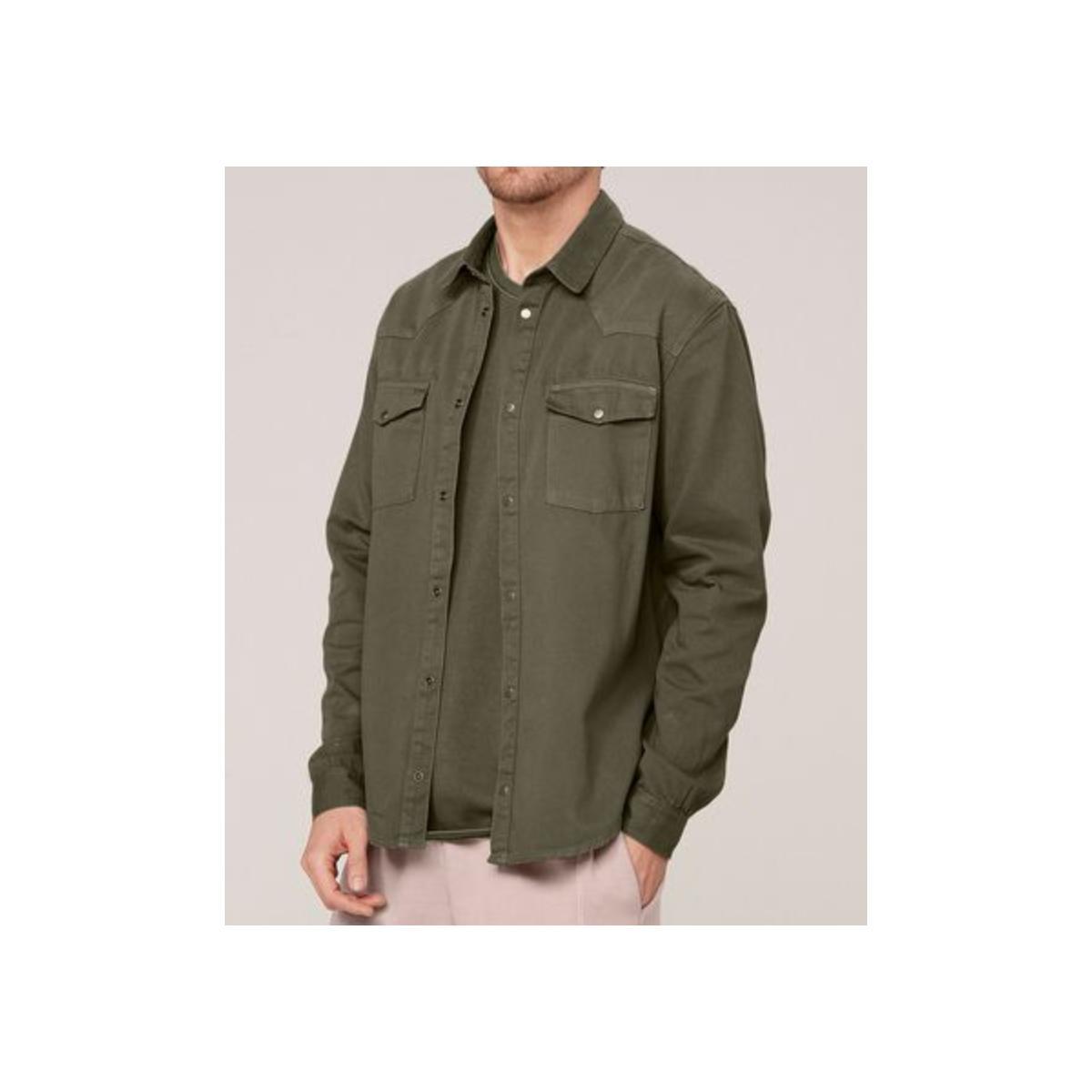 Camisa Masculina Dzarm Zil4 Eacsn Verde