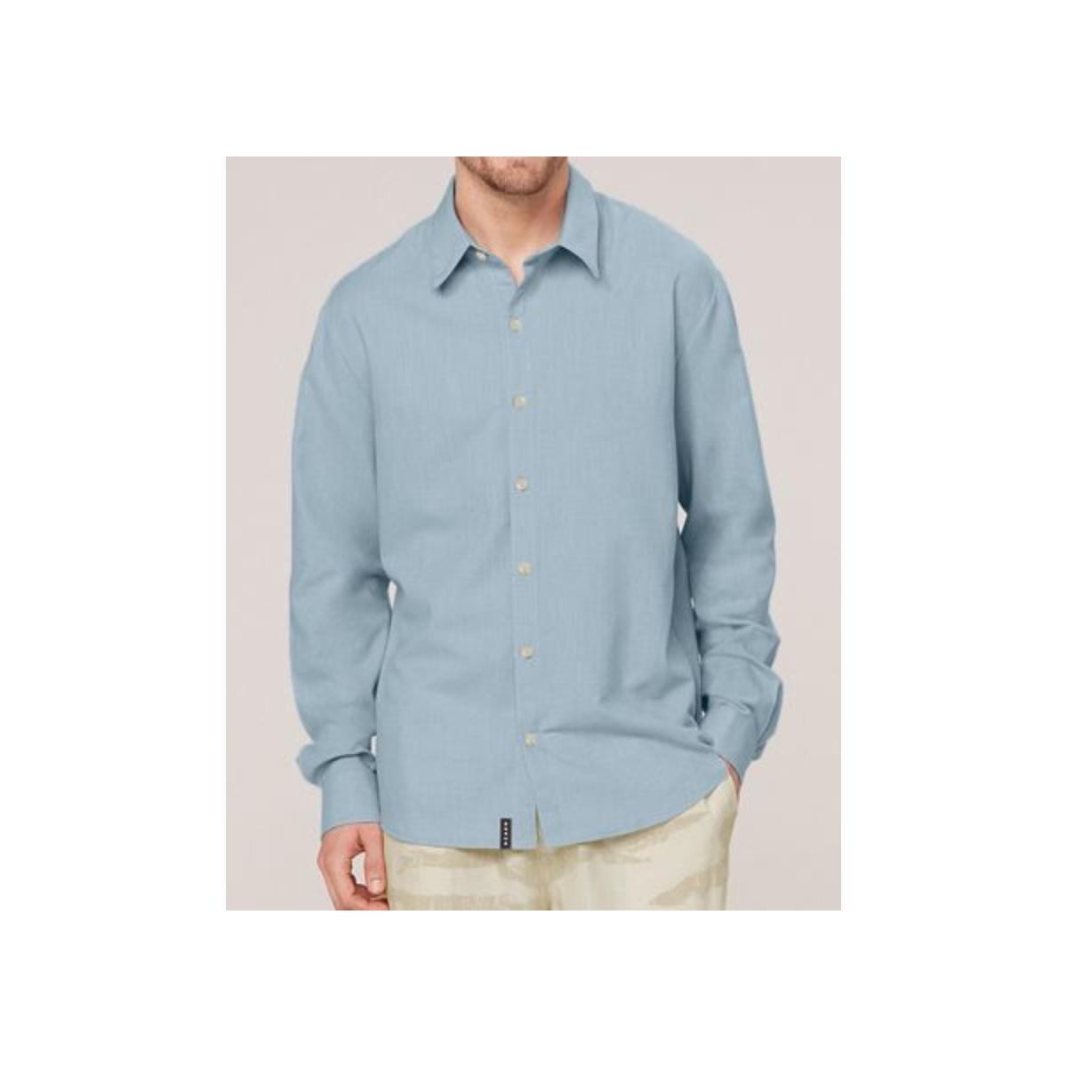 Camisa Masculina Dzarm Zilh Av7en Azul
