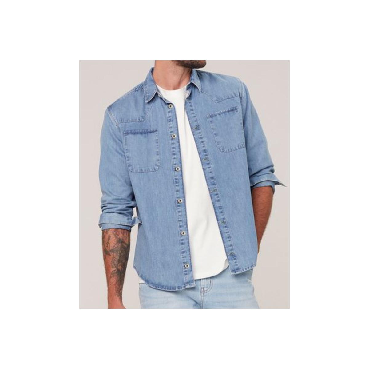 Camisa Masculina Dzarm Zilj 1bsn Jeans Claro