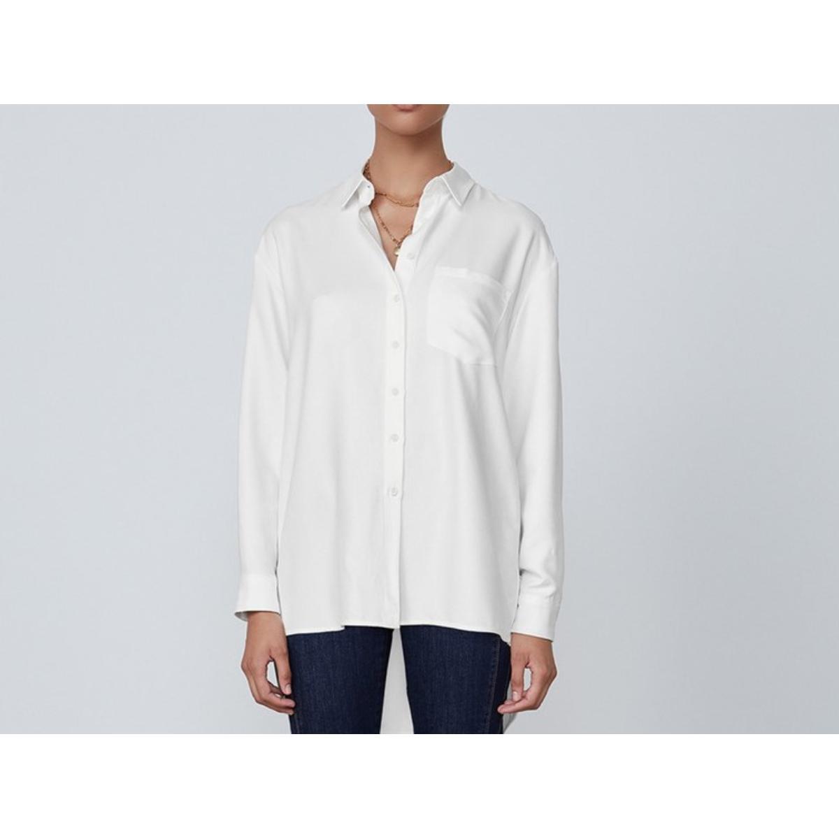 Camisa Feminina Dzarm Zimn Nmcen Branco