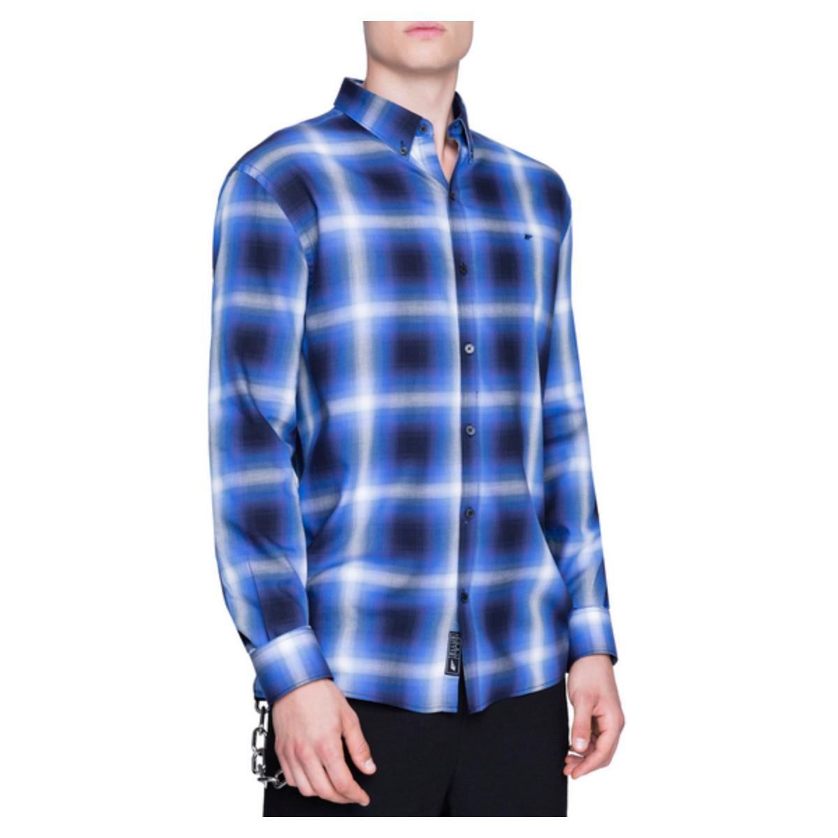 Camisa Masculina Ellus 51b7305 00 Azul/preto