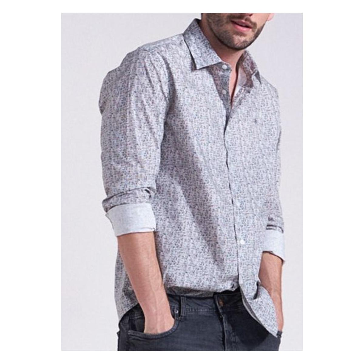 Camisa Masculina Forum 314602950 Off White Estampado