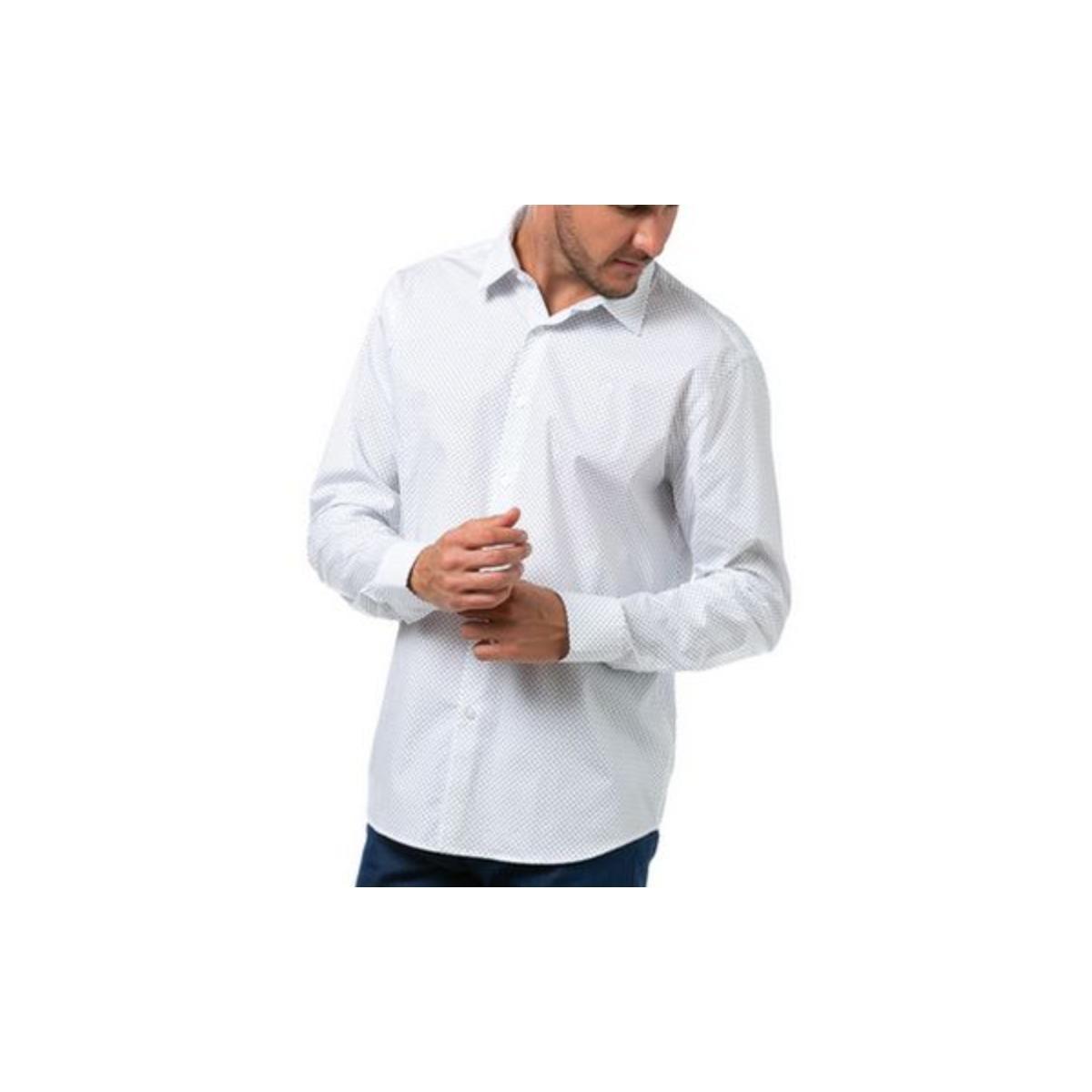 Camisa Masculina Forum 314602959 Branco/azul