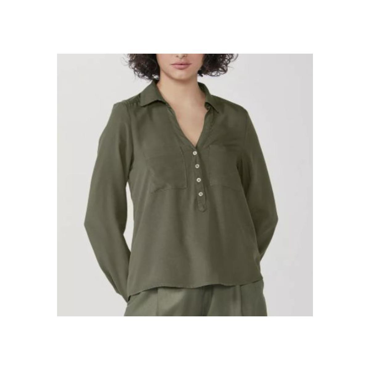 Camisa Feminina Hering K458 Eacsi  Verde
