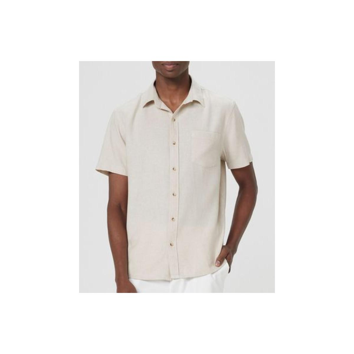 Camisa Masculina Hering K48r 1hsi  Bege