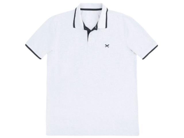 Camisa Masculina Hering 036h 3sen Branco/cinza