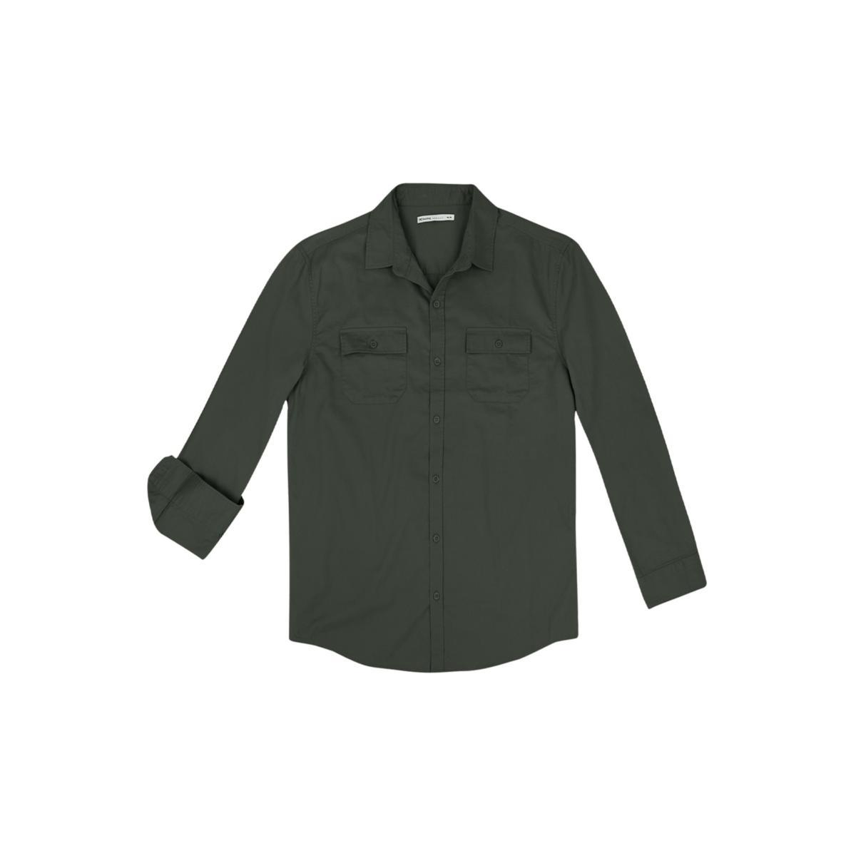 Camisa Masculina Hering K4dt Natsi Verde Escuro
