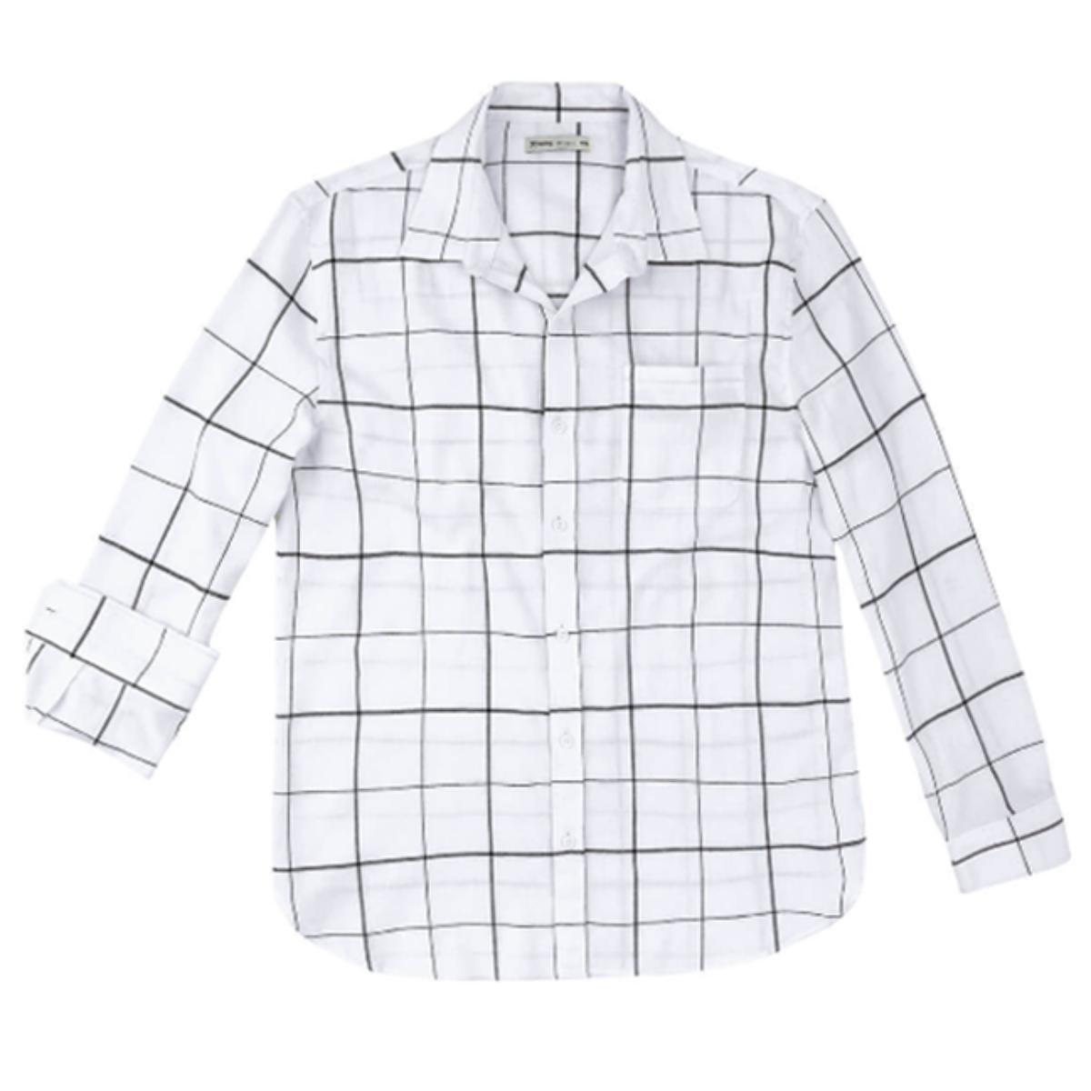 Camisa Masculina Hering Ktzc 1dsi Off White