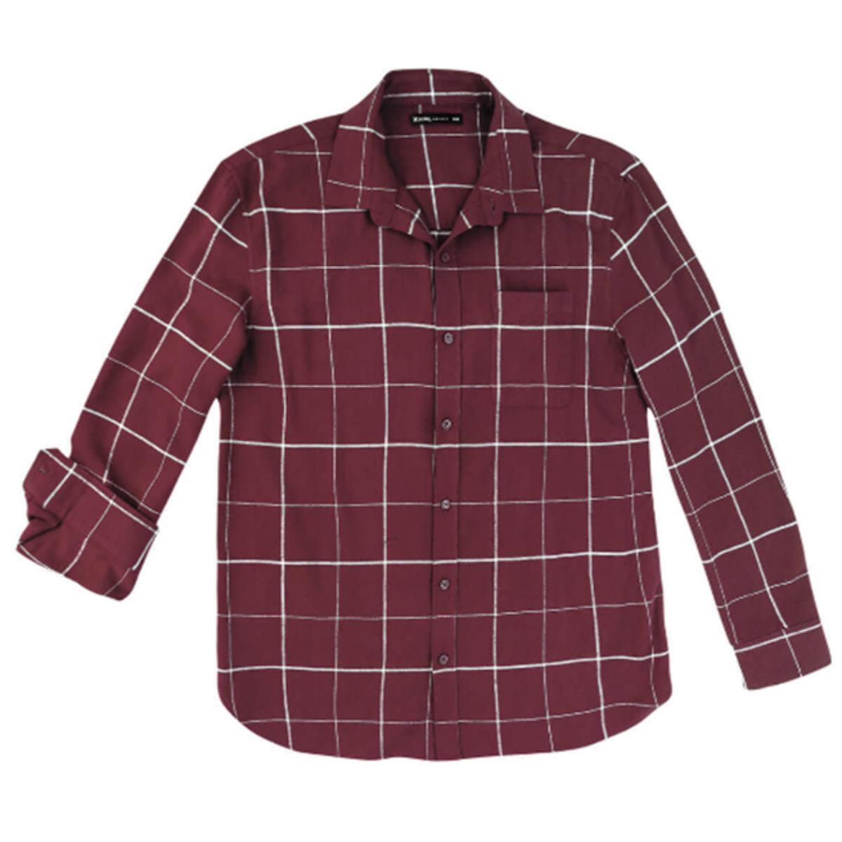 Camisa Masculina Hering Ktzc 1bsi Bordo