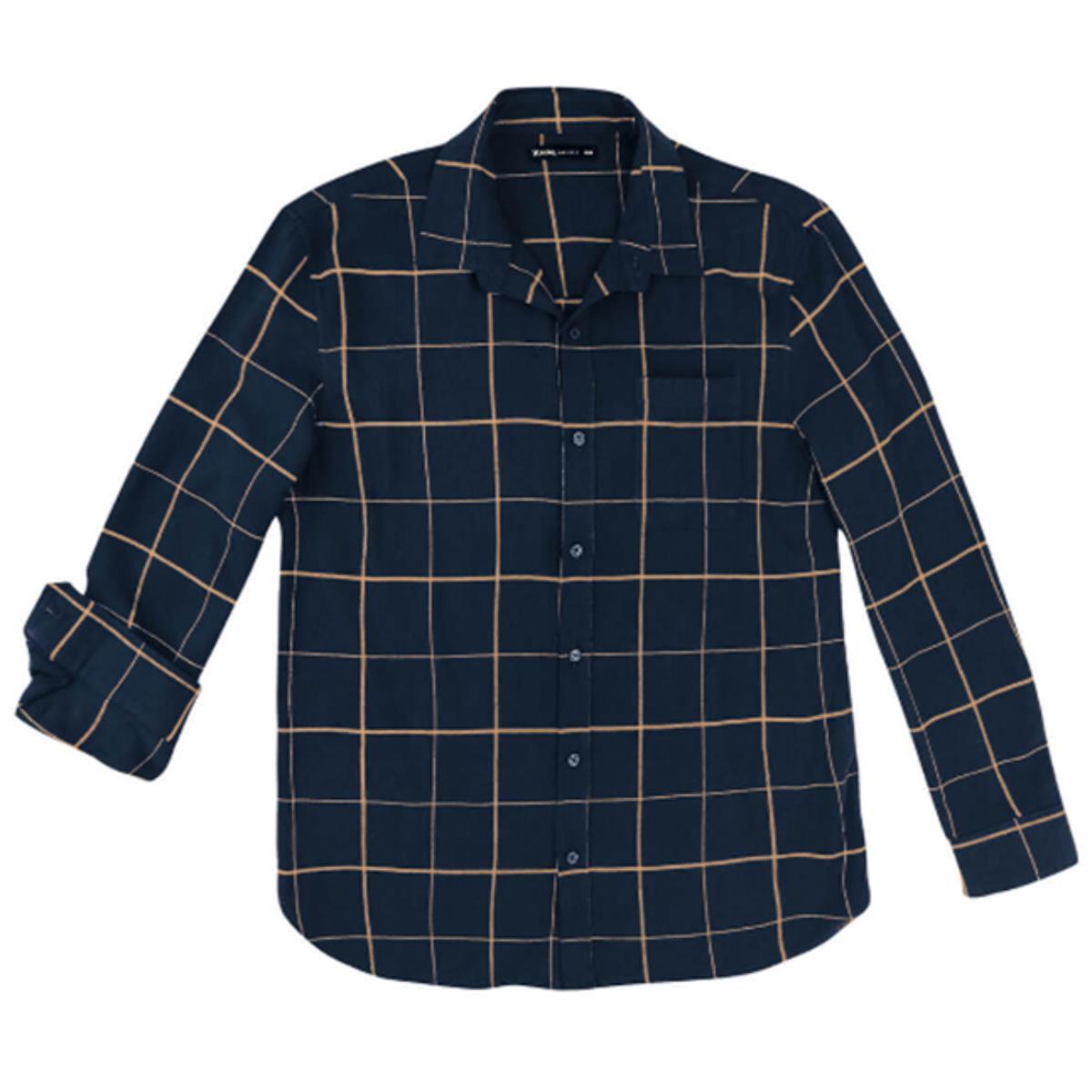 Camisa Masculina Hering Ktzc 1asi Marinho Xadrez