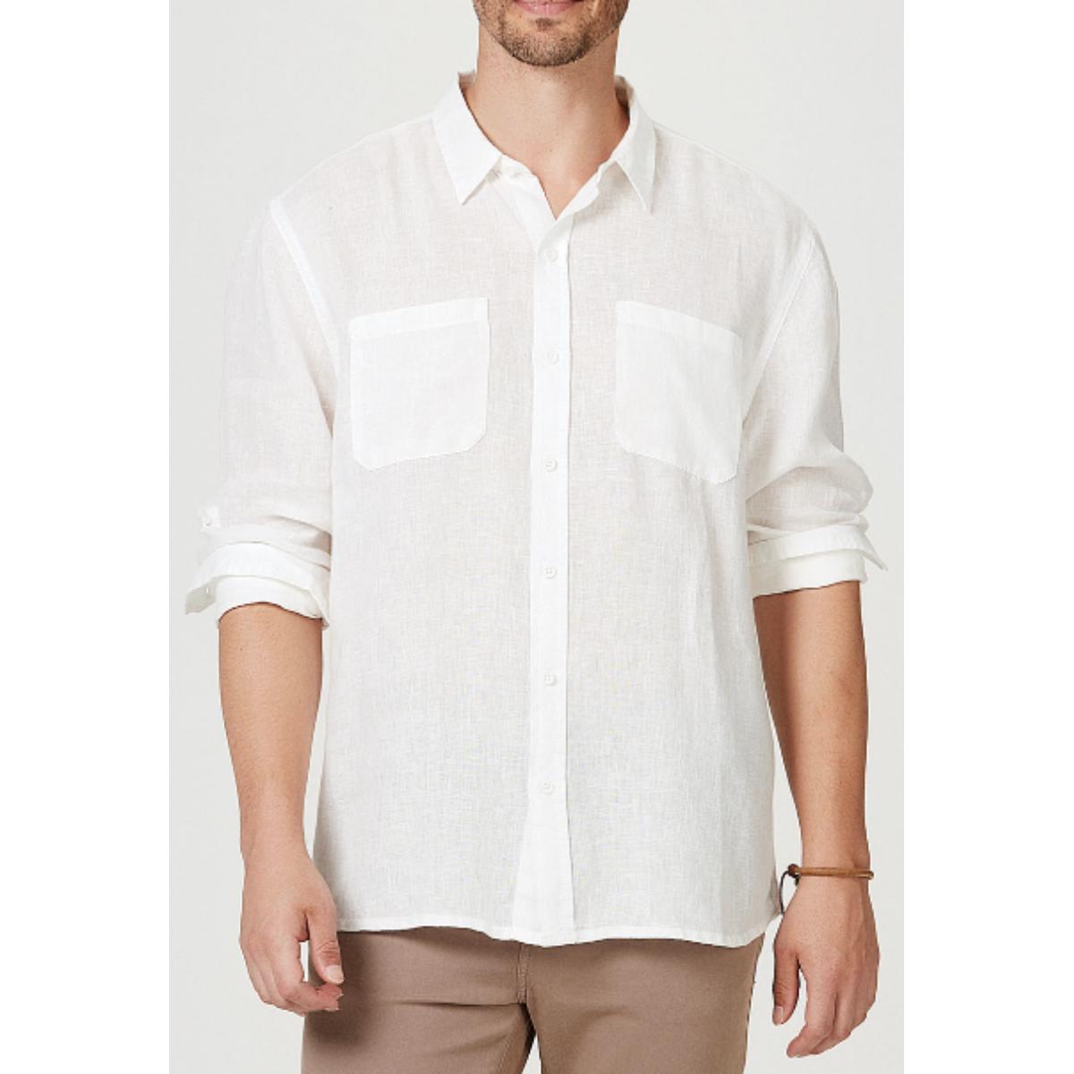 Camisa Masculina Hering Ktv7 1asi Off White