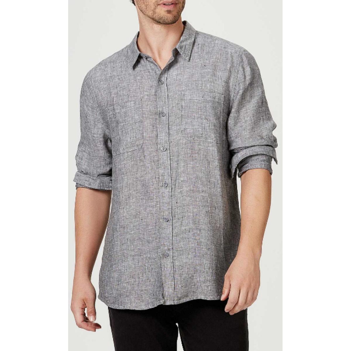 Camisa Masculina Hering Ktv7 1gsi Cinza