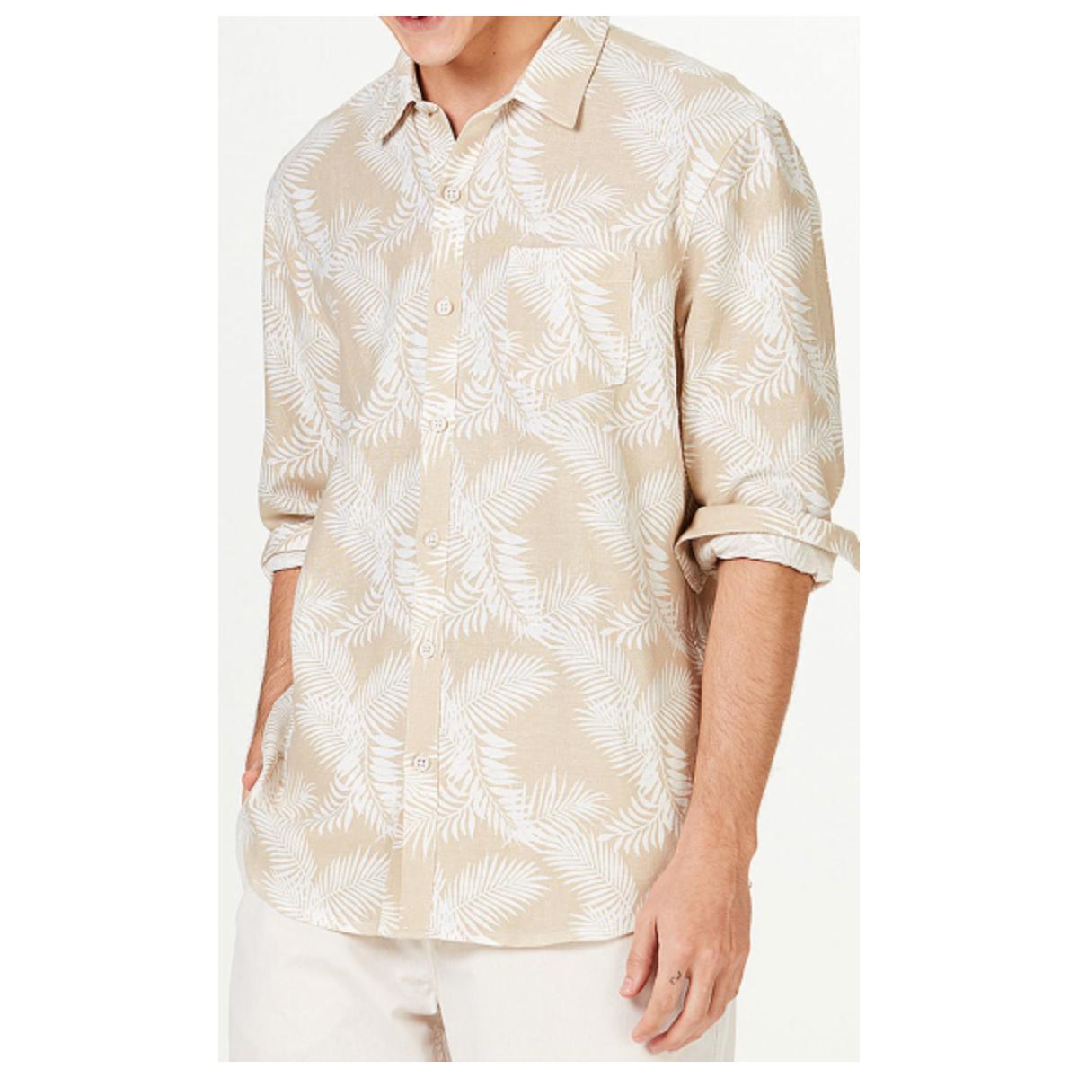 Camisa Masculina Hering Ktz4 1asi Bege/branco