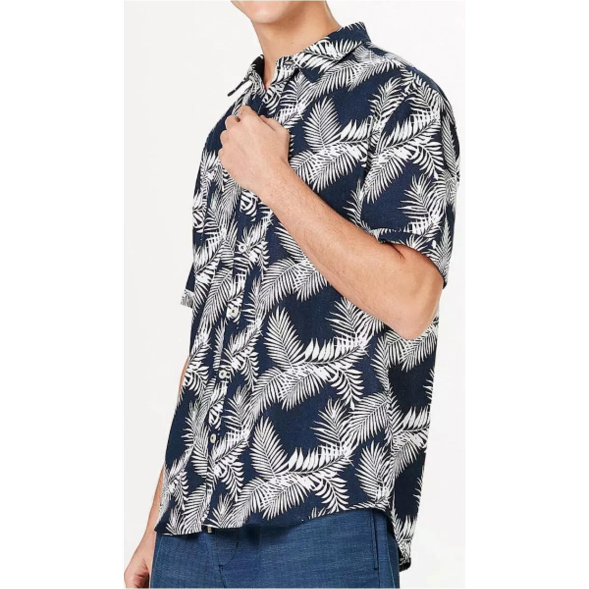 Camisa Masculina Hering Ktz1 1bsi Marinho/branco