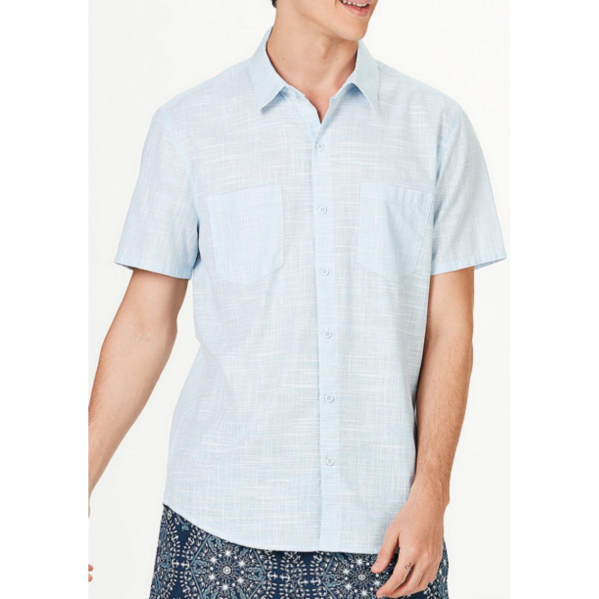 Camisa Masculina Hering H2ga Se11en Azul Claro