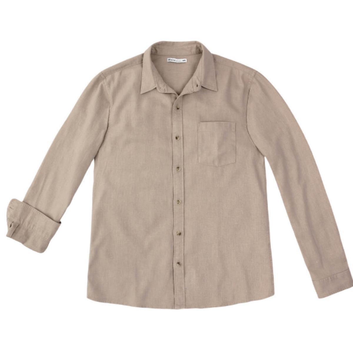 Camisa Masculina Hering K48f 1dsi Bege Escuro