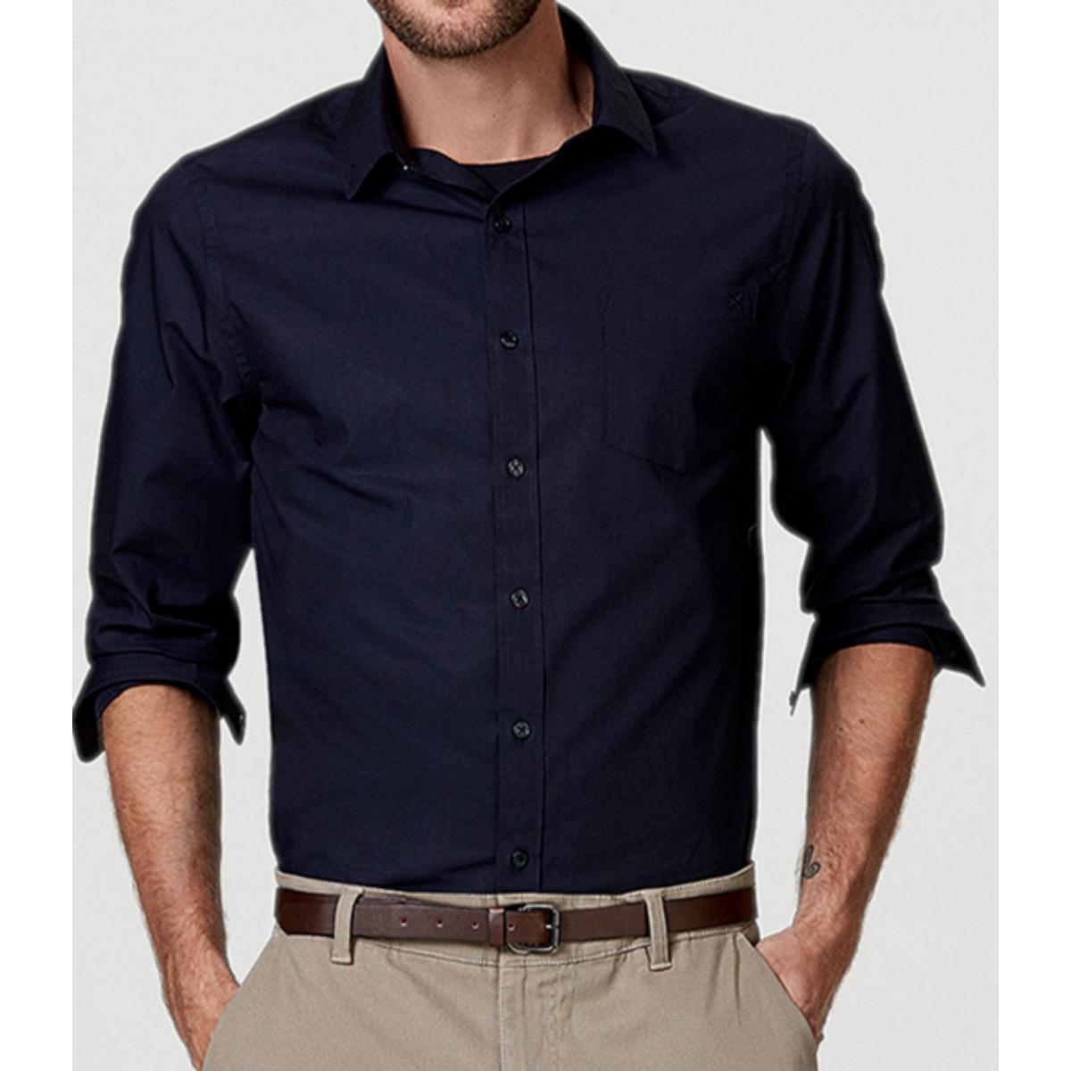 Camisa Masculina Hering K4an Ax7si Marinho