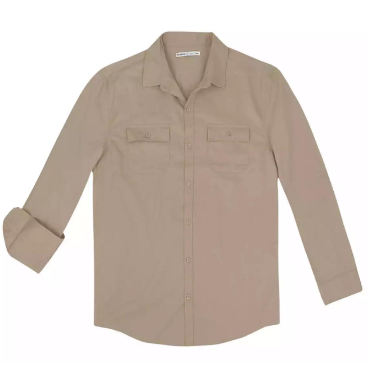 Camisa Masculina Hering K4dt 1asi Bege