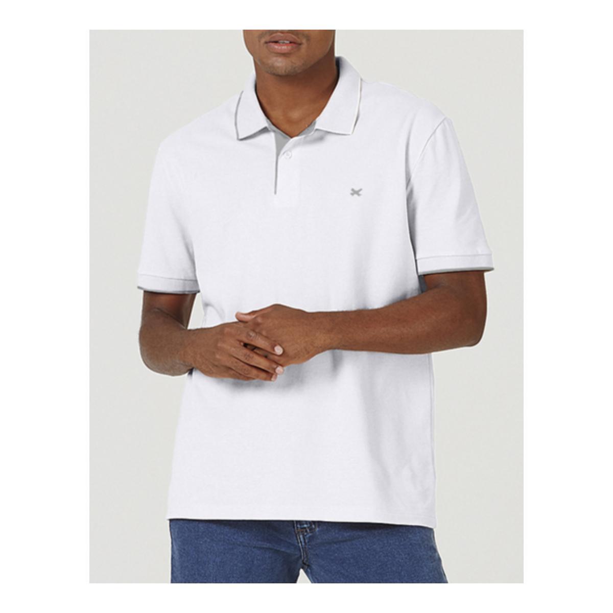 Camisa Masculina Hering 036h 5den Branco/cinza